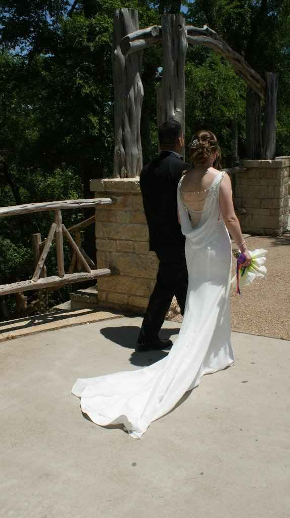 I love this picture of us. It's like our first stroll as husband and wife