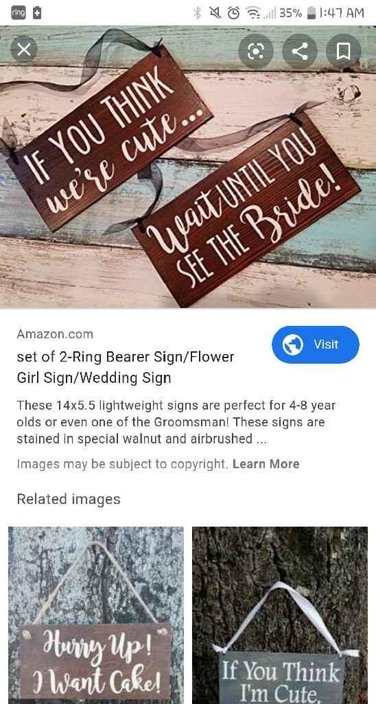 Flower Girl/ Ring Bearer Ages - 1