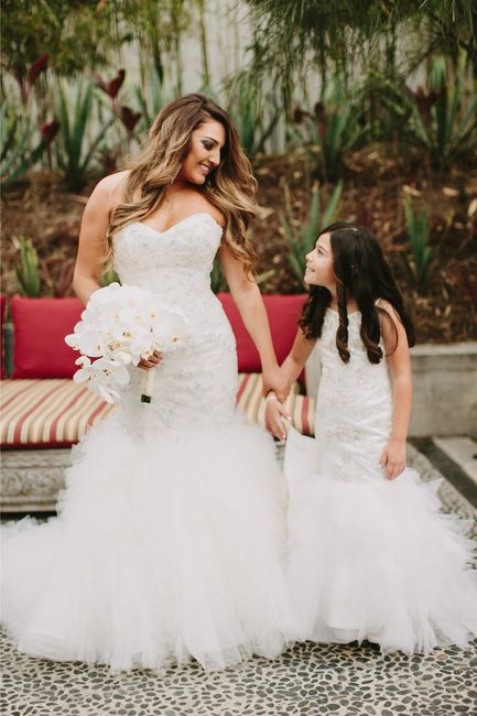 010a6c8cf5e Matching bride and flower girl