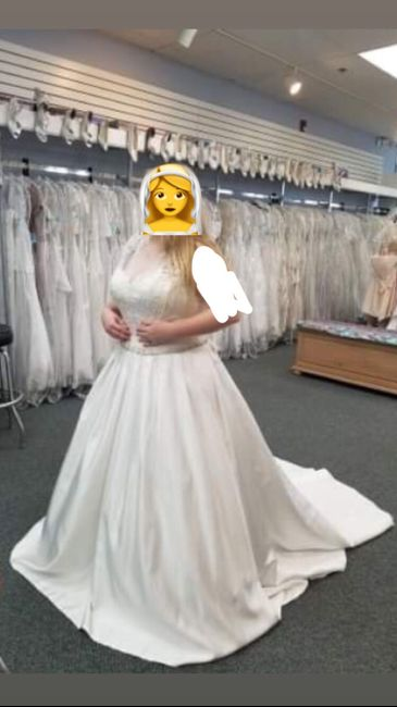 My wedding dress, i absolutely love it, adding sleeves!  Anyone else wearing a ball gown?? 3
