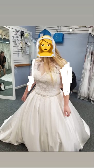 My wedding dress, i absolutely love it, adding sleeves!  Anyone else wearing a ball gown?? 2