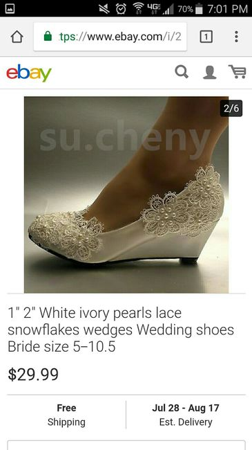3facf8badcb6ed Where did you get your wedding shoes