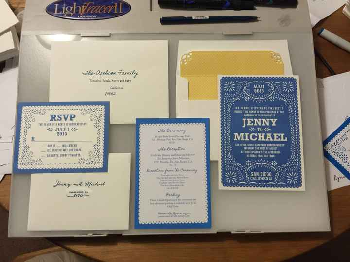 My Invitations came in!!! UPDATE in comments! (Pics)
