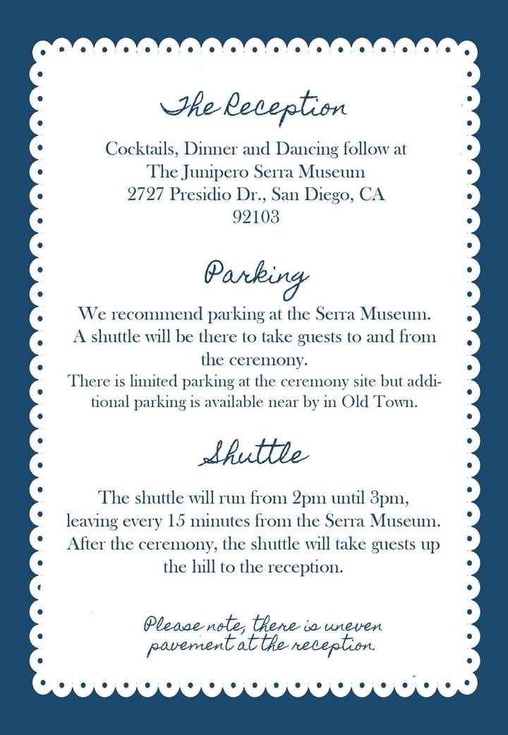 Shuttles and Invitations?