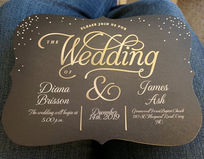 Where did you get your wedding invitations? 2