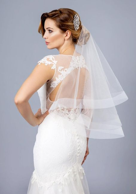 Veil or no veil... and if you choose a veil - will you wear it over your face when you walk down the isle? 1
