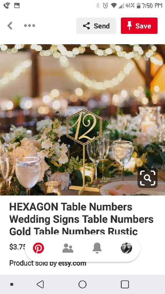 What kind of table numbers? - 1