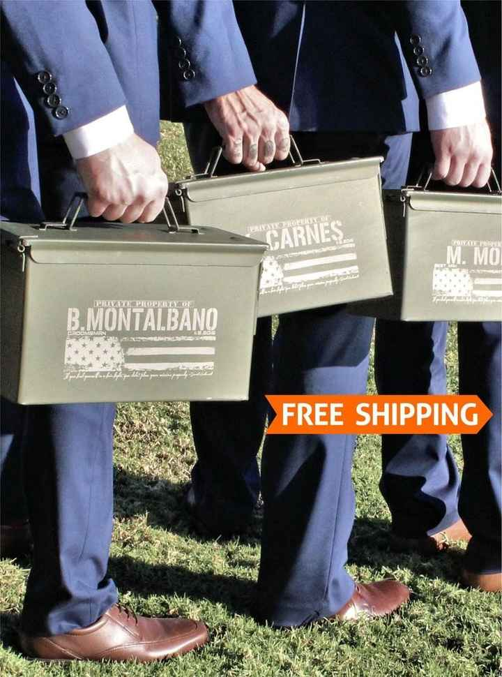 Engraved 50 Cal Ammo Boxes