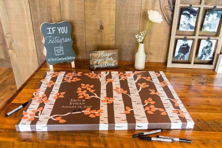 How big of a canvas for an alternative guest book? - 1
