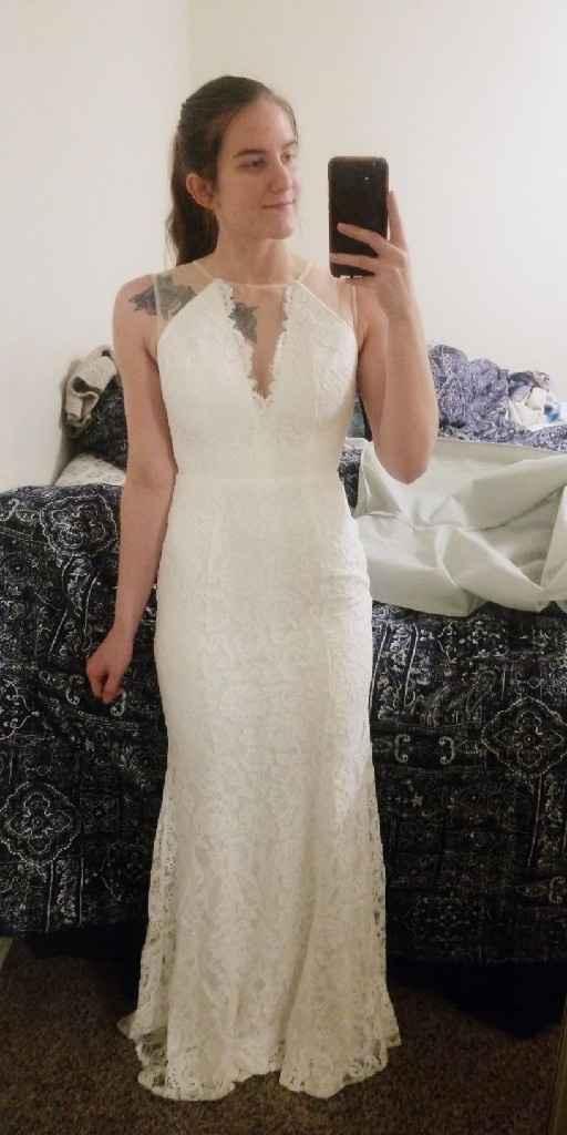 Got my dress!! Veil or no veil? - 1