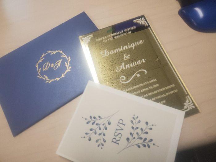 Acrylic Wedding Invitations 1
