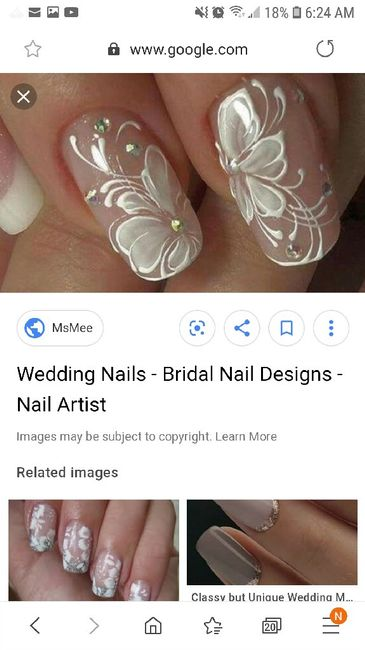 Let me see your wedding nails! 3