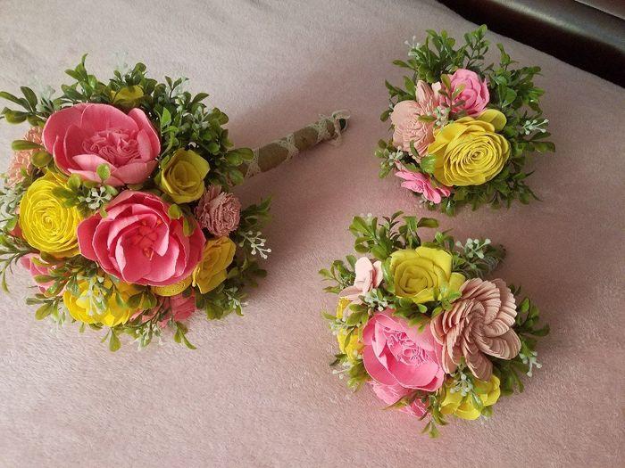 Sola flower bouquet - diy greenery Question 5