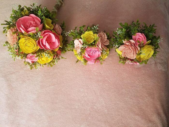 Sola flower bouquet - diy greenery Question 6