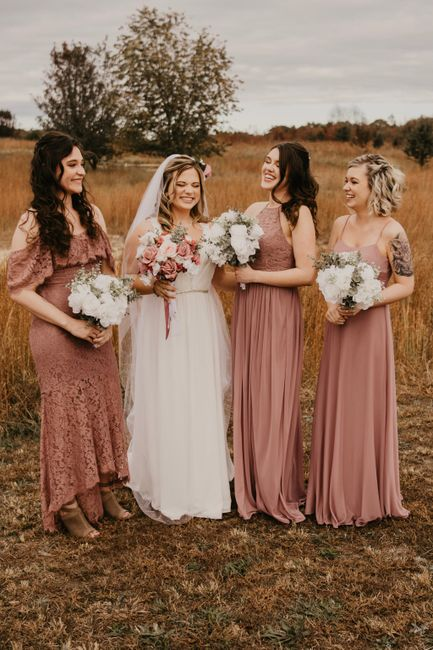 Bridesmaids: different styles in a few different shades 4
