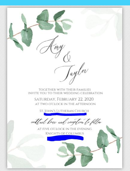 Should our last names be on our invitations? 2