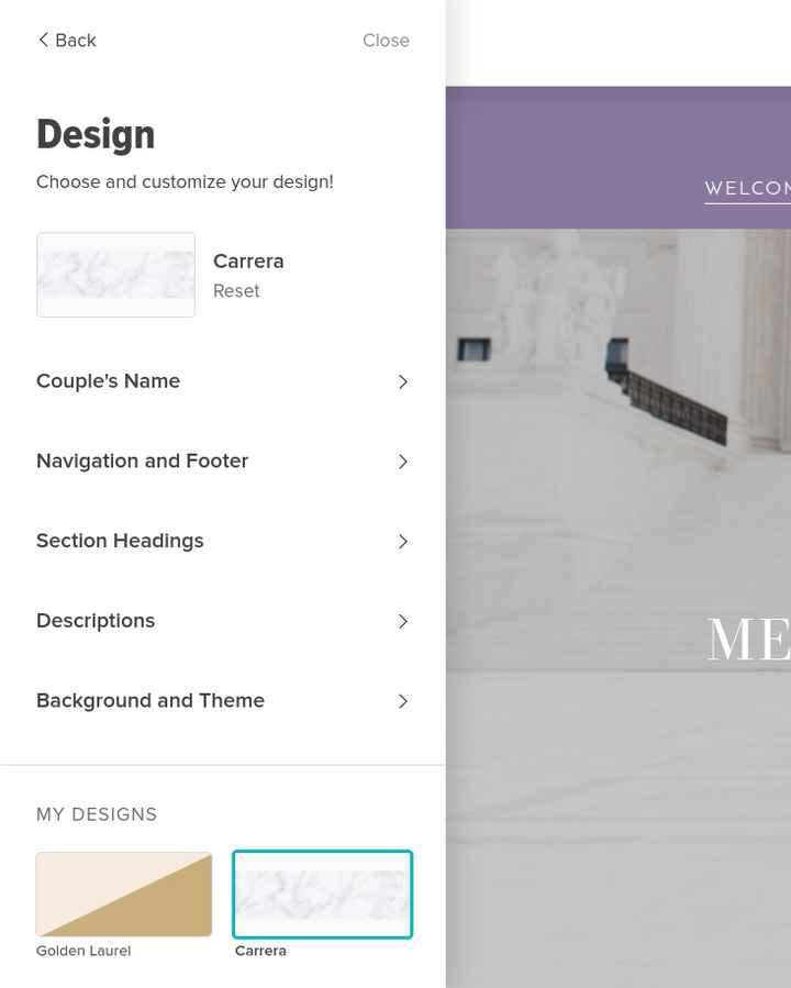Wedding Website Issues. - 1