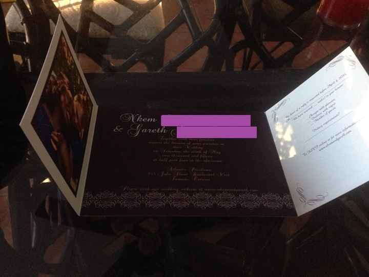 How many of you are putting your pictures on your invitations?