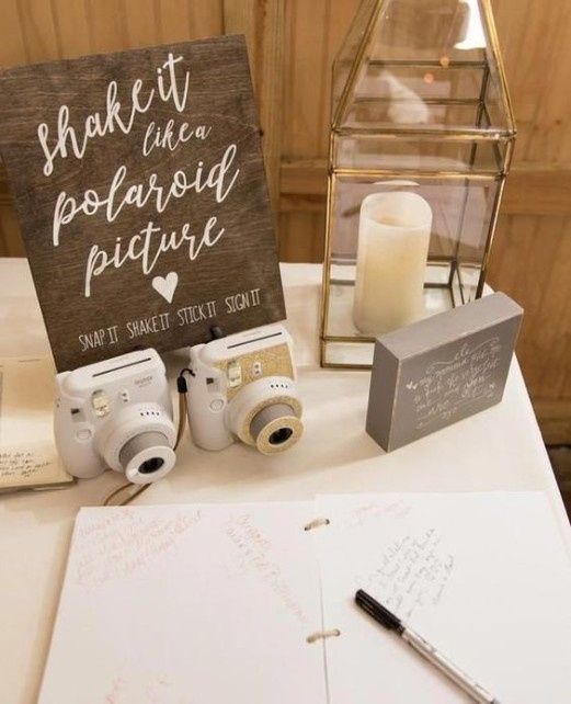 Help! Need creative ideas for a guest book. 5