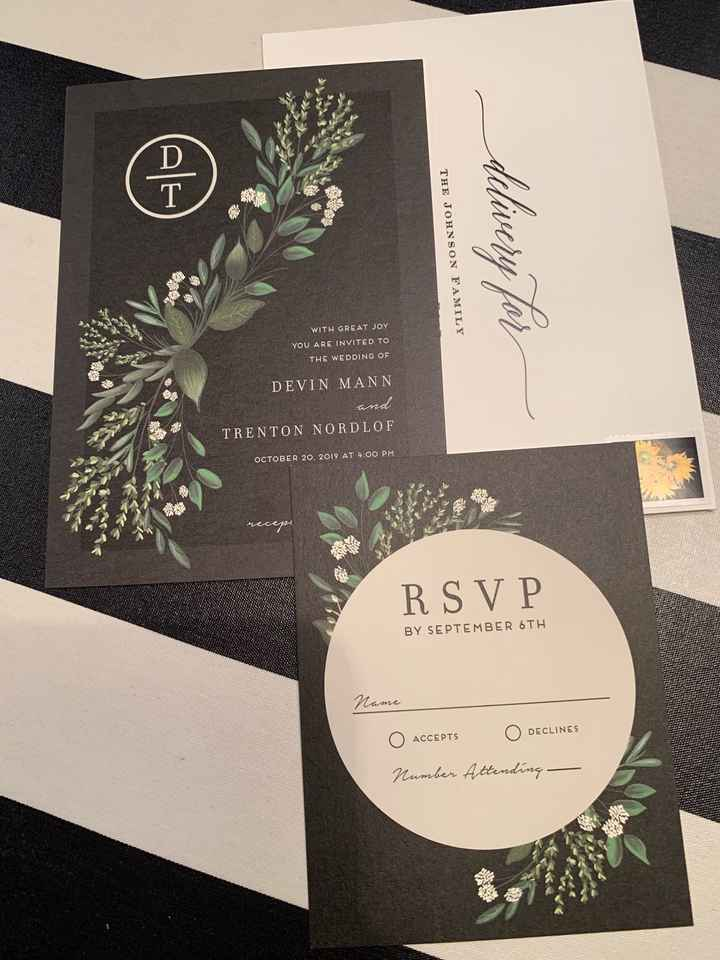 My invitations came! - 1