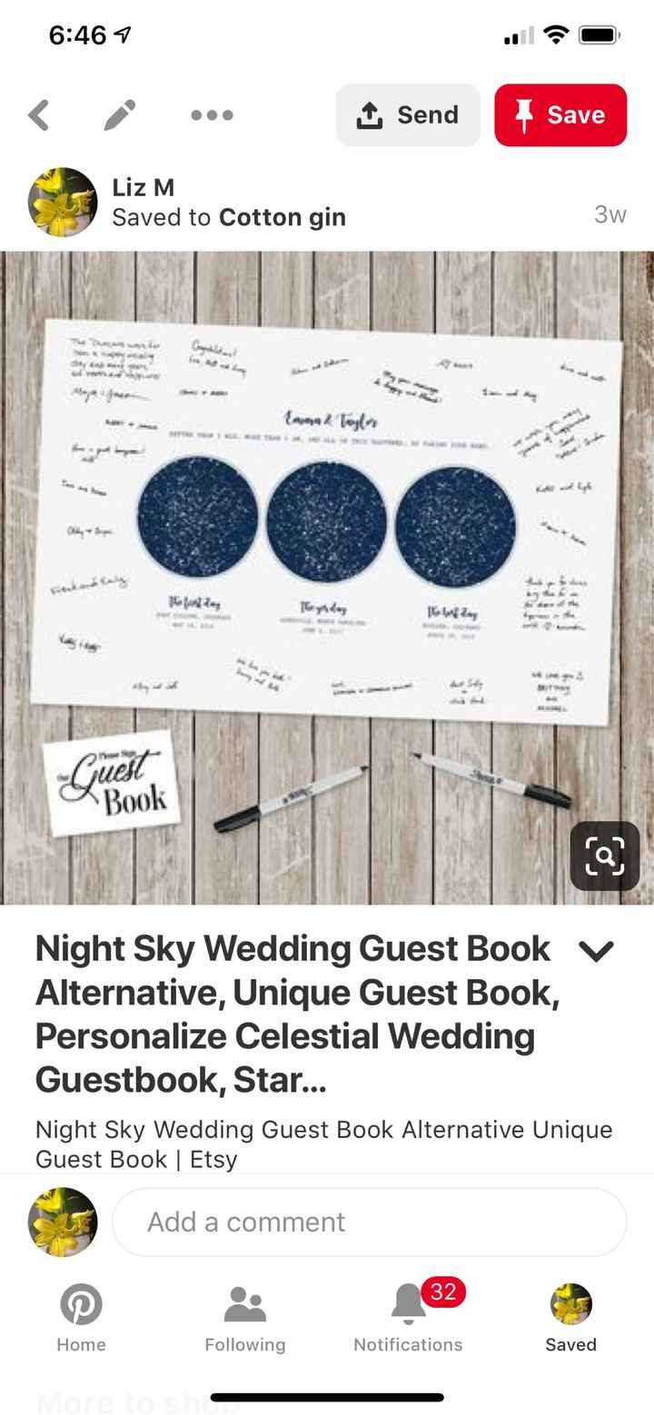 Alternative guest book suggestions? - 1