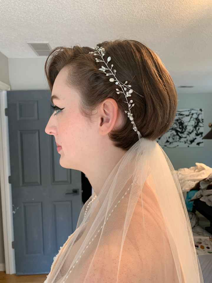 brides with pixie cuts : let me see your Hair, Veil, and Accessories!!!!! - 1