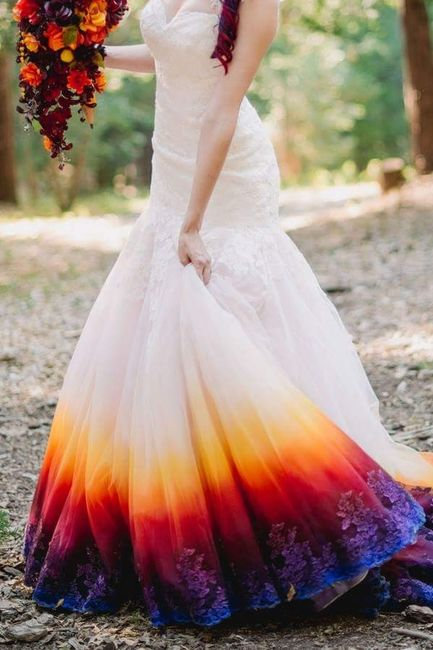 The dress and David\'s Bridal/ Wedding dress dip dye. | Weddings ...