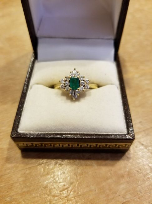Who else has gemstones in their ring(s)?  Let's see them! 8