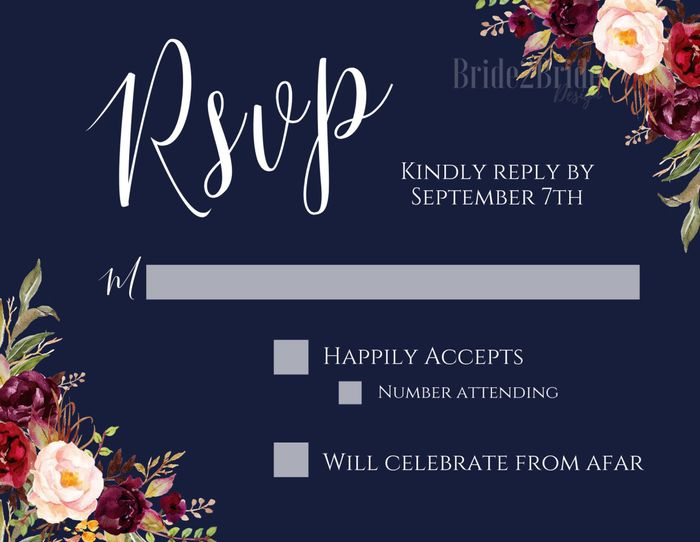 rsvp color opinion! - 2