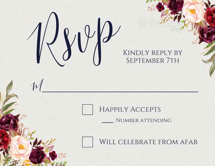 rsvp color opinion! - 1