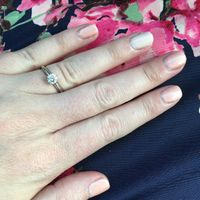 Nothing fancy - just a blush/peach color with a more pale version on my ring finger