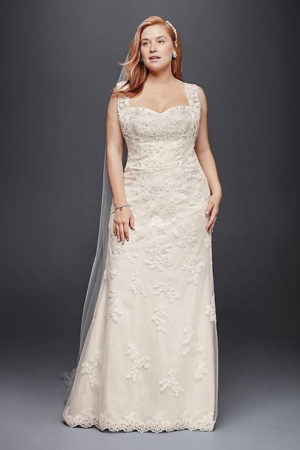 Does your wedding dress have lace, beading, or both? 4