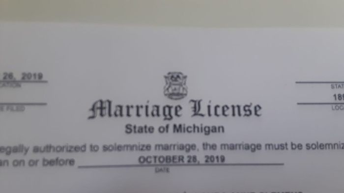 Got the Marriage license today! 1