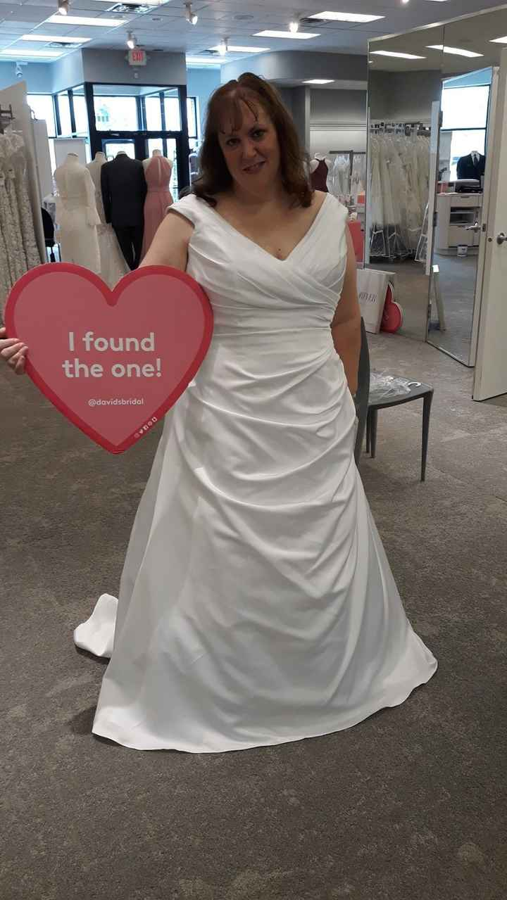 my dress the day I said yes