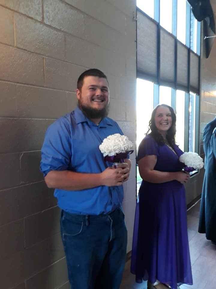 Billy the Bridesmaid and Savannah my MOH
