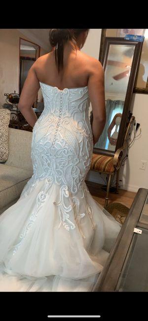 Wedding dress finally came 1