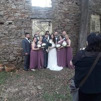 Different color bridesmaids dresses to groomsmen ties - 1