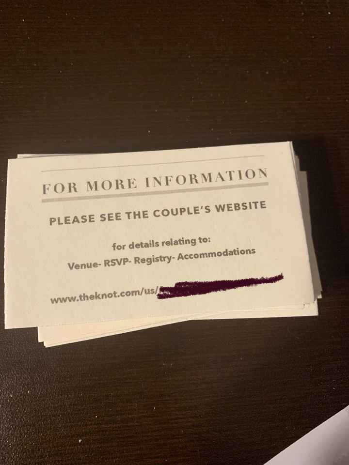 Invite/wording/non tradition - 1