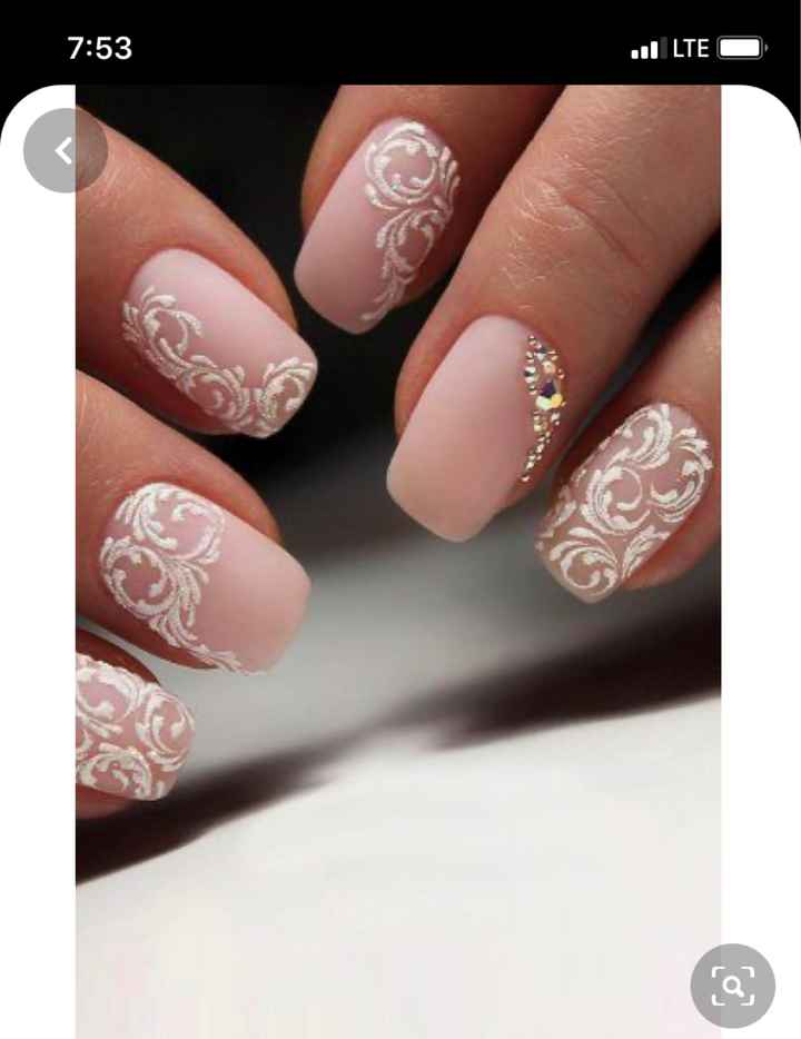 Less Traditional Wedding Nails - 1