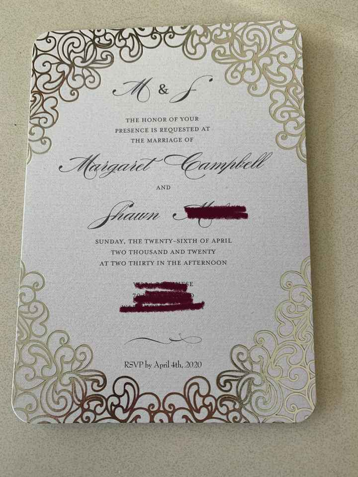 Invitations ordered, show me yours! - 2