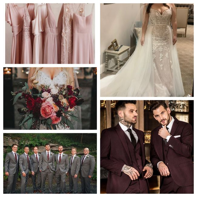 Blush/ivory gown- what color for bridesmaids? 6