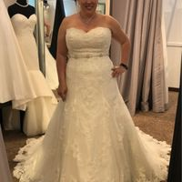 How to hem a lace wedding dress. Allure 9564 - 1