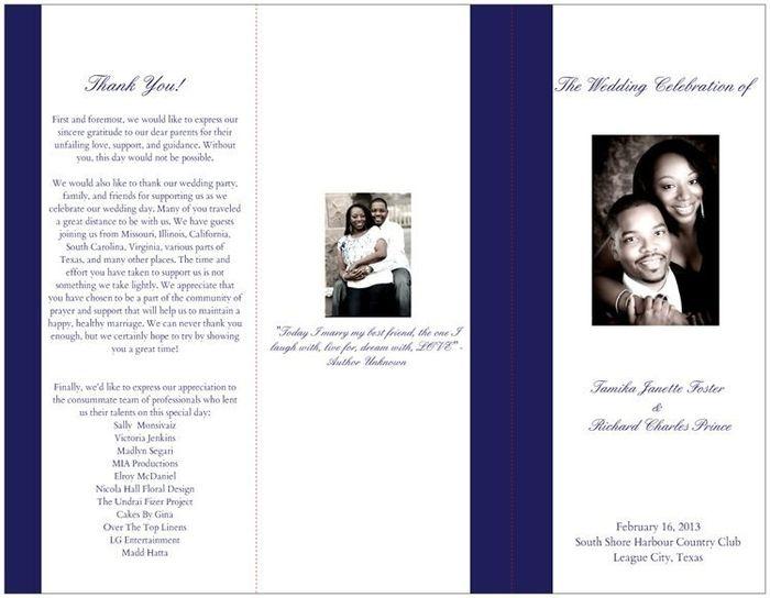 My Vistaprint Wedding Programs   Weddings, Etiquette and