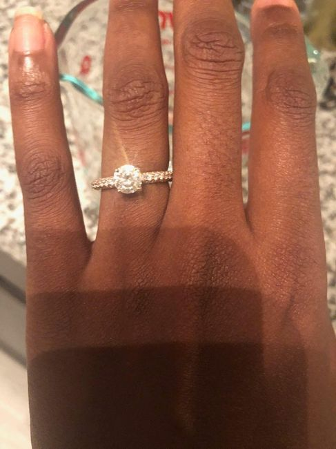 Who has a rose gold ring? 9