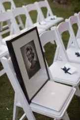 setting up his photo for the ceremony and/or reception in a reserved space