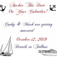 Save the Date Nautical Card