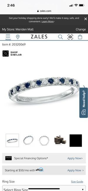 Sapphires as wedding rings! 2