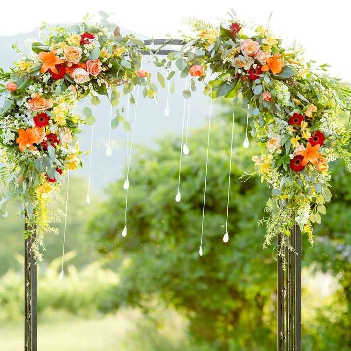 How did/are you decorating your aisle and arch?