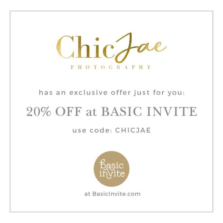 20% Off Any Stationary on Basic Invite