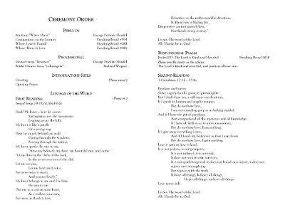 As Promised ~ Wedding Programs for Catholic Ceremony! :o)   Weddings ...
